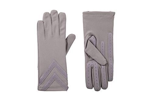 Isotoner Women's smartDRI Chevron Spandex Stretch Touchscreen Gloves - 30003 (Small/Medium, Dusty Lavender)