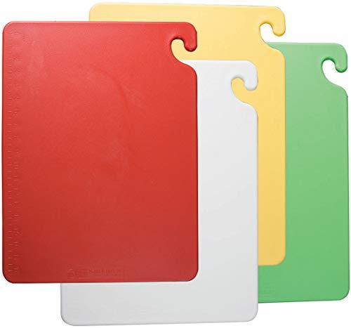 San Jamar CB1520QS 4 Piece Cut-N-Carry Board System Set with Free Smart Chart, 20