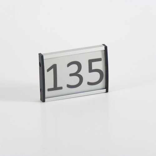Placa para puerta aluminio Perfect Line 53 x 74 mm, DIN A8 ...