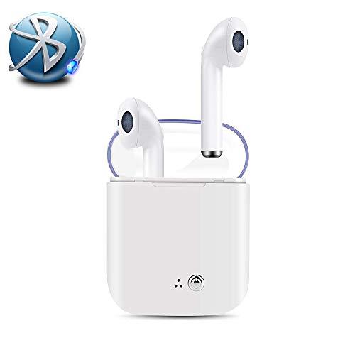 Bluetooth Headphones,Microphone HD Wireless Earphone in-Ear Sports Mini with Charging bin Earphones Headset,Wireless Earbuds for PC, iOS All Smartphones