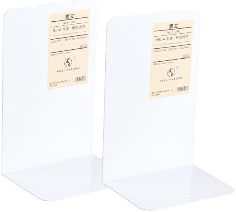 VORCOOL Metall Buchstützen mit Rutschfester Basis 1 Paare (weiß)