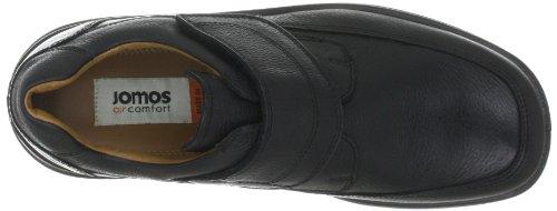 cuero casual Feetback 406203 de hombre Zapatos Jomos 44 Negro para 3 OwnX0