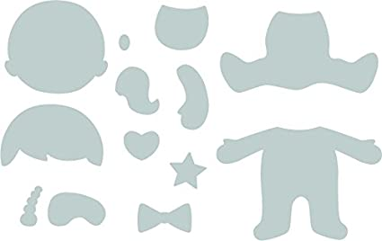 Kindergarten Einheitsgr/ö/ße Sizzix Bigz Die 664389 Baby von Jennifer Ogborn
