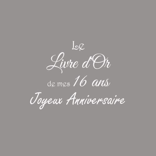 Le Livre d'Or de mes 16 ans Joyeux Anniversaire: Livre d'Or Anniversaire 16 ans accessoires decoration idee deco fete jeunesse cadeau pour adolescente ... 16 ans Couverture Gris (French Edition)