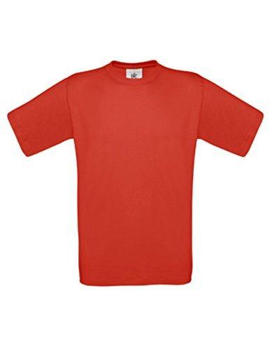 T-Shirt Exact 190 Basics Rundhals Shirt viele Farben B&C S-XXL M,Red