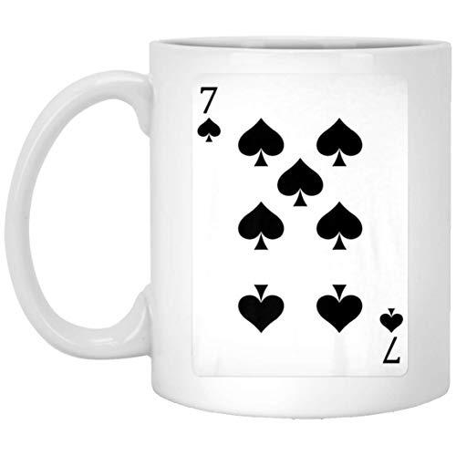 Seven of Spades Costume Playing Card Poker Halloween 11 oz. White Mug