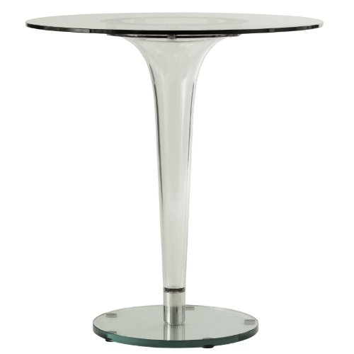 LeisureMod Lonia Modern Glass Accent Dining Table