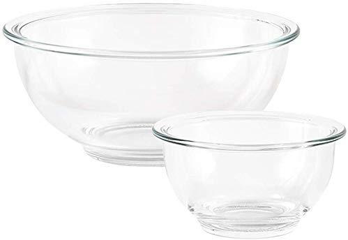 Novelty Home Tazones y platos, Ensalada de vidrio resistente al ...