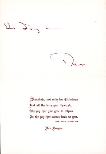 Dan Duryea - Inscribed Christmas/Holiday Card Signed
