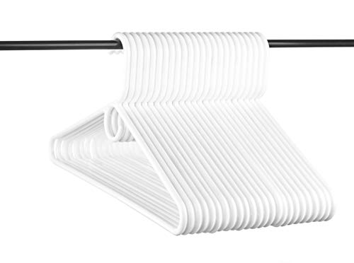 Plastic Tubular Hangers - Neaties USA Made Heavy Duty White Plastic Hangers, 24pk
