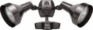 RAB Lighting STL110H Stealth 110 Sensor with Twin Precision Die Cast H101 Deluxe Shielded Floods, Aluminum, 110 Degrees View Detection, 1000W Power, 120V, Bronze Color