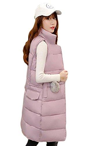 王室嫉妬の中でtopmodelss レディース ダウンベスト 秋冬 厚手 ダウンジャケット ロング丈 無地 シンプル チョッキ スリム 着痩せ カジュアル トップス 韓国風 ファッション 軽量 暖かい