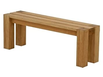 Bon Atlanta Teak Furniture   Teak 4u0027 Backless Bench   Extra Thick Legs