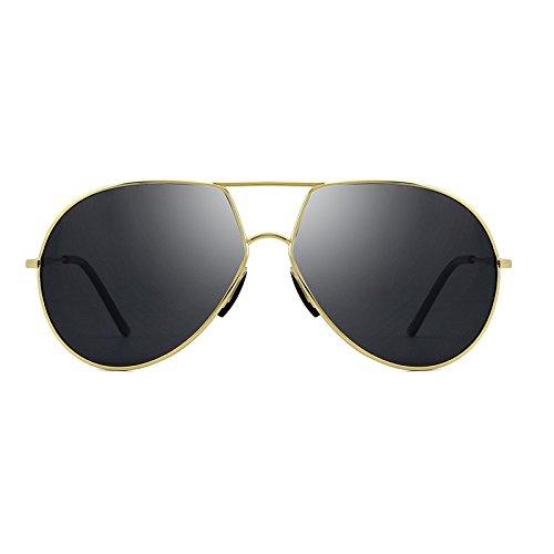 Pesca de aleación de Color Gafas piloto polarizadas Vendimia Sol de del conducción de Marca la Hombres de Jusheng Masculinas Conductor Gafas Estilo los la de de de de Gafas Golden Golden Sol de pBTSA