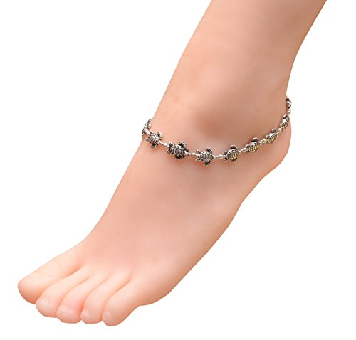 Turtle Indian - Sansar India Turtle Beads Indian Anklet Jewelry for Girls and Women
