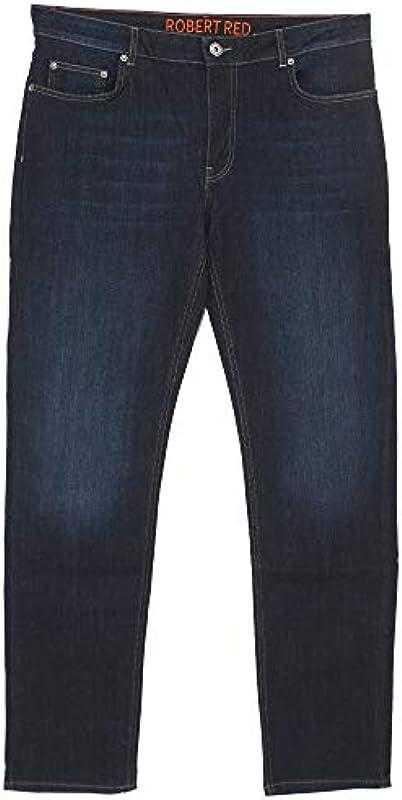 Robert Red, męskie spodnie jeansowe, MT0203, stretchdenim, Blueblack [21268]: Odzież
