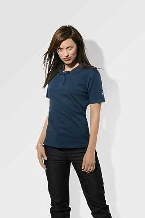 BMW Original Camiseta Polo para Mujer en Azul Oscuro - Tamaño S ...