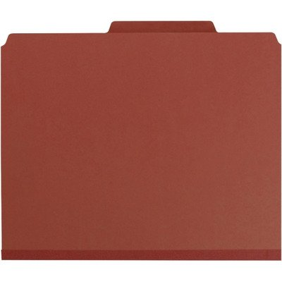 Classification Pockets - SMD14079 - Smead 14079 Red Pressboard Classification Folders with Pocket-Style Dividers and SafeSHIELD Fasteners