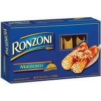 - Ronzoni Manicotti Pasta 8 oz
