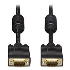 - VGA Monitor Cables, 6 ft, Black, HD15 Male; HD15 Male ()