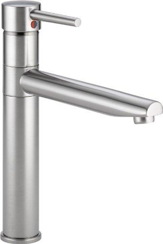 Trinsic, Single Handle Centerset Kitchen Faucet, Arctic Stainless - Delta Faucet 1159LF-AR