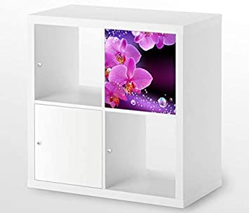 Möbelaufkleber Für Ikea Kallax 1x Türelement Orchidee