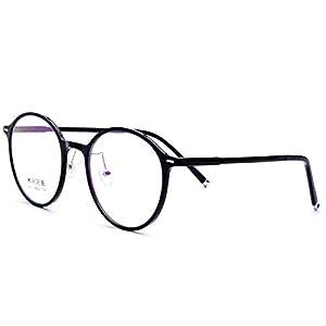 HEPIDEM TR90 2018 Men Round Ultralight Optical Glasses Frame Spectacles 6270 (black, 48)