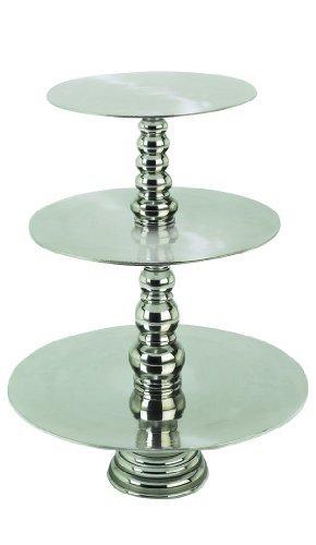 Deco 79 Aluminum 3-Tier Cake Stand,23-Inch [並行輸入品]   B07PLF57X6