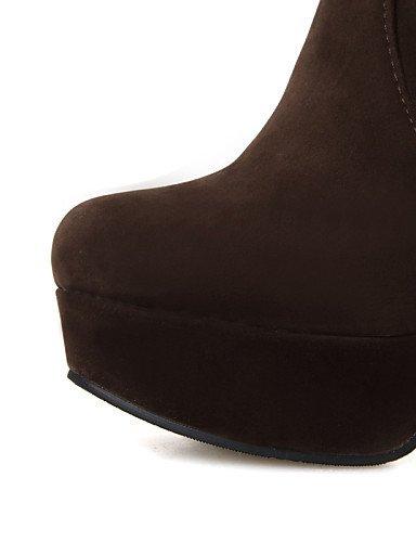 negro Eu42 Casual Ante Cn43 Botas Uk8 Trabajo 5 Brown Punta Xzz Vestido Cerrada us10 Redonda 5 Tacón Robusto De Mujer Zapatos Y Marrón Oficina xxgWPO6ZR