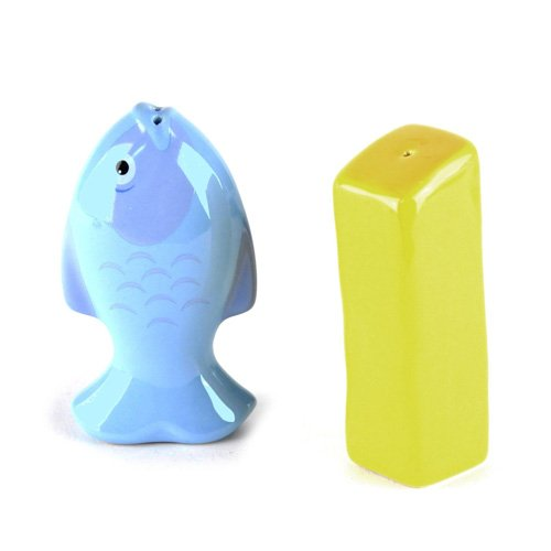 Bluw Fish and Chip Salt and Pepper Shakers, Set of 1 BG1041