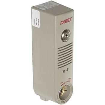 Detex Battery Powered Door or Wall Mount Exit Alarm, 2.10