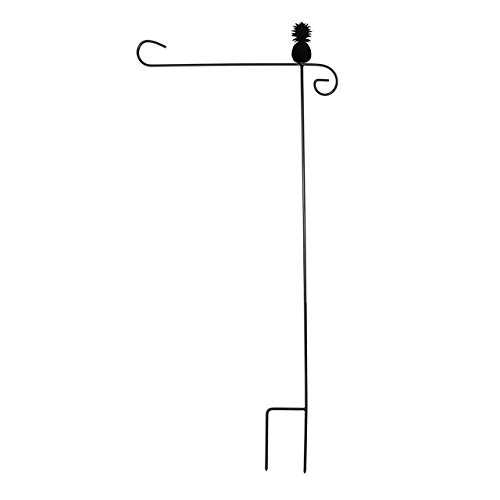 Wrought Iron Pineapple Garden Flag Stand 40