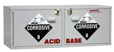 Scimatco SC2260 Gray Plywood Safety Storage Acid/Base Combo Cabinet, 10 x 2.5 L Capacity