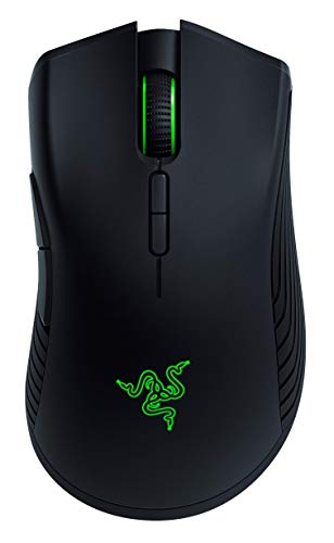 Razer Mamba Wireless Gaming Mouse: 16,000 DPI Optical Sensor - Chroma RGB Lighting - 7 Programmable Buttons - Mechanical Switches - Up to 50 Hr Battery Life