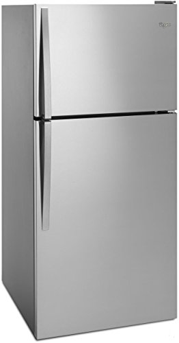 WHIRLPOOL REFRIGERATORS 1030646 18.2 cu.ft. Top Freezer Refrigerator, Monochromatic Stainless Steel, Reversible Door (Monochromatic Stainless Steel Whirlpool)