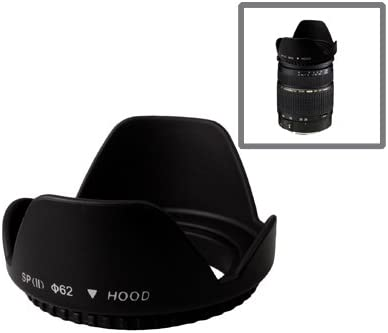 Screw Mount Black Lens Hood Xllbmd 62mm Lens Hood for Cameras