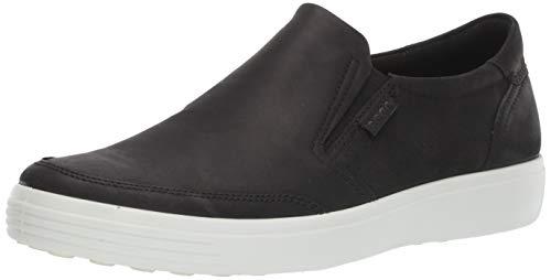 ECCO Men's Soft 7 Slip On Sneaker, Black Nubuck, 43 M EU (9-9.5 ()