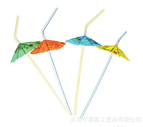 aiyuyu Straw Umbrella Disposable Drink Cocktail Juice Ligament Fruit Drink Hawaiian Umbrella Straw Can Be Used In Bar Hotel Restaurant Kitchen
