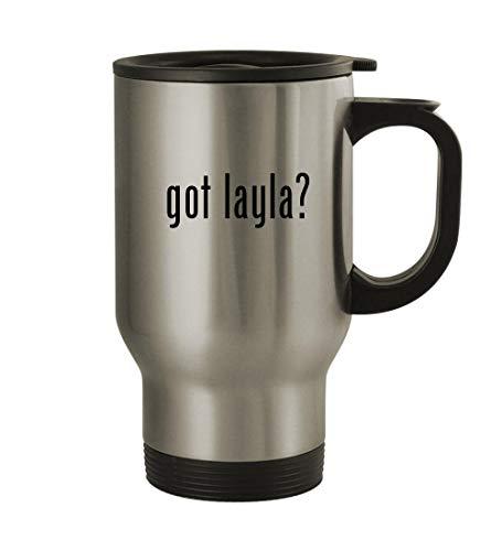 (got layla? - 14oz Sturdy Stainless Steel Travel Mug, Silver )