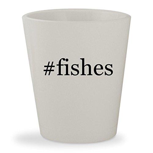 Price comparison product image #fishes - White Hashtag Ceramic 1.5oz Shot Glass