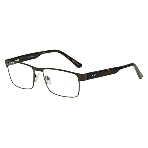 para Gafas y Braun gafas de los bisagra estilo flexible lentes los OCCI primavera claras rectangular de hombres hombre CHIARI con metal marco de prescripción Marco óptico de marco gafas 5Bn4fOa