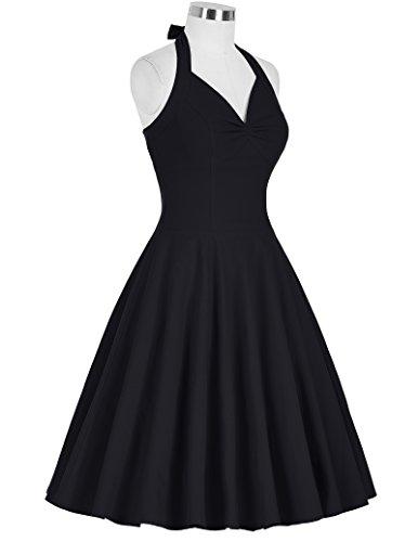 Belle Manche Femme Bp185 Robe Vintage À Rockabilly V Audrey 1 Sans Rétro Poque® Yafex Col J5T13KulFc