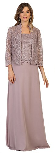 Formal Dress Shops Inc by MQ1554 Mother of The Bride Evening Gown (Mauve, 2XL)