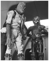 Star Wars Bossk & 4-Lom Black and White Print