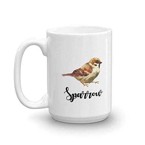 Sparrow Ceramic Coffee & Tea Gift Mug, Décor, Accessories, Novelty Token, Items & Kitchen Utensils For Sparrows Lover, Bird Watcher Men & Women (15oz)]()