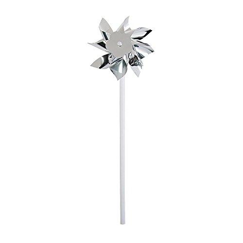 Fun Express - Silver Plastic Pinwheels (3dz) for Wedding - Toys - Value Toys - Pinwheels - Wedding - 36 Pieces ()