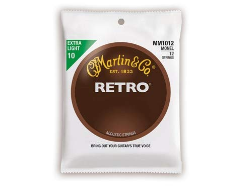 Martin Retro 12-string Acoustic Guitar Strings - .010-.047 Extra Light (Martin 12 String Acoustic Guitar)