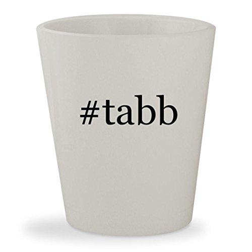 #tabb - White Hashtag Ceramic 1.5oz Shot Glass Tabb Mark