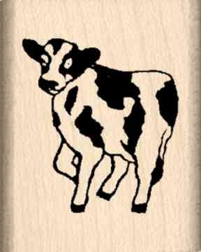 Cow Rubber Stamp - 1 inch x 1-1/4 inches