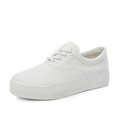 Versión De La Estudiante Coreano Del De Lona Blanca,Los Zapatos De Las Mujeres,Gruesos Zapatos Blancos Al Final De La Primavera,Instructores Femenino Mayor A